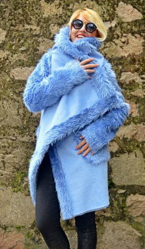 light blue winter coat