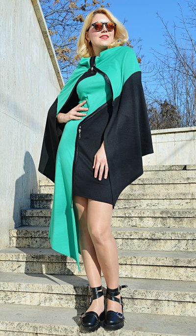 convertible emerald dress