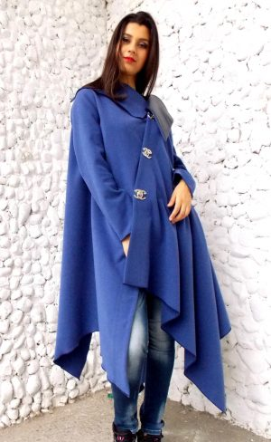 blue petrol winter coat