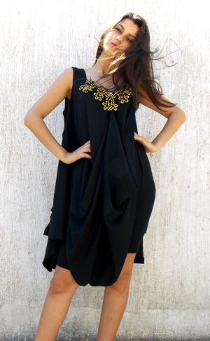 loose black jumpsuit