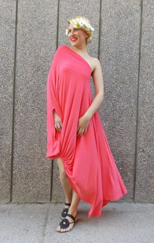 peach summer kaftan