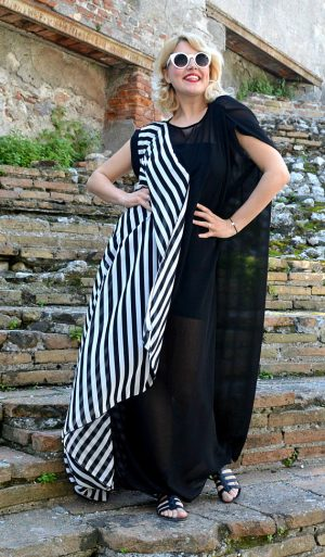 striped summer kaftan