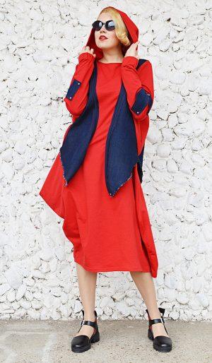 red convertible dress