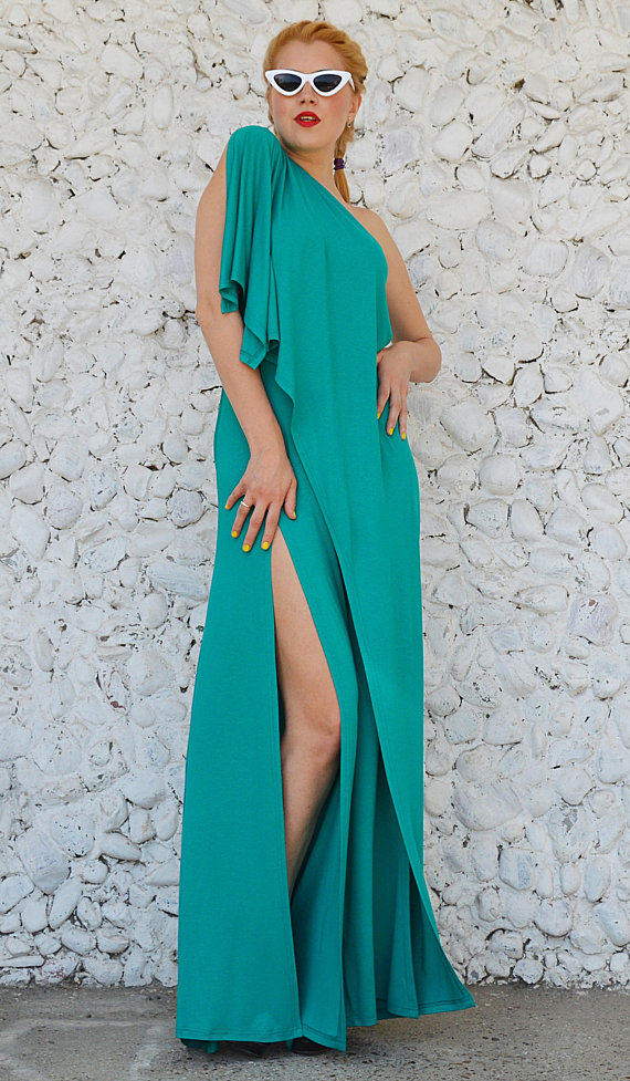 teal maxi jumpsuit