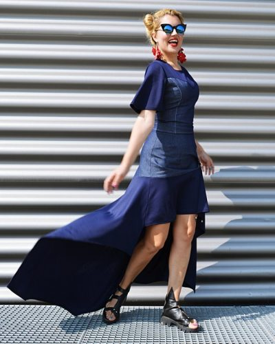 denim navy skirt
