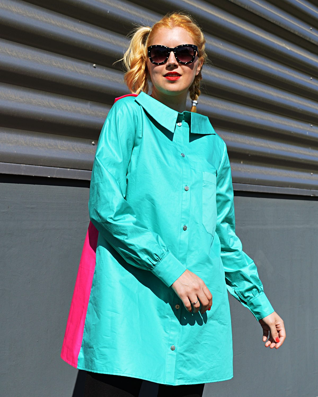 bicolor tunic