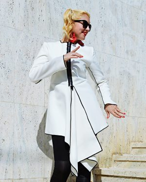 white cashmere jacket