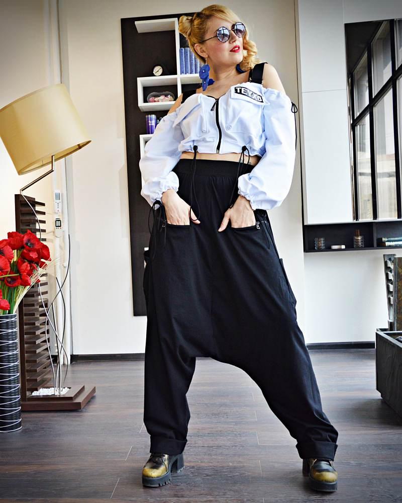 women drop crotch pants