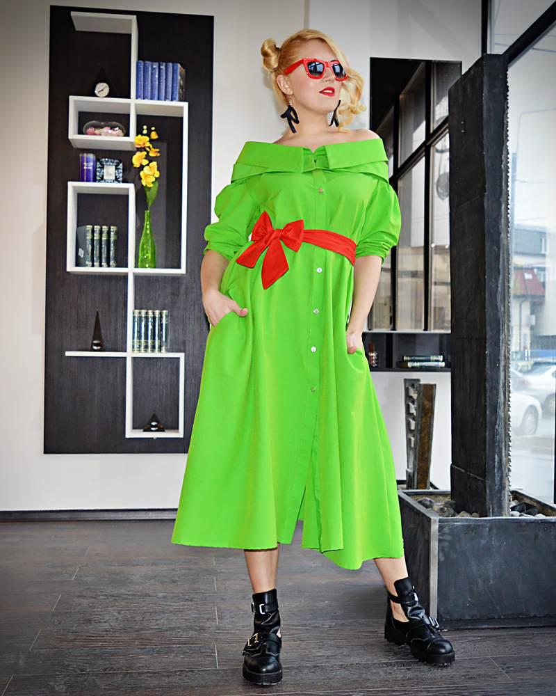 midi wide dress