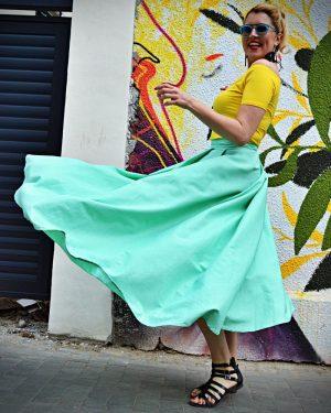 maxi linen skirt