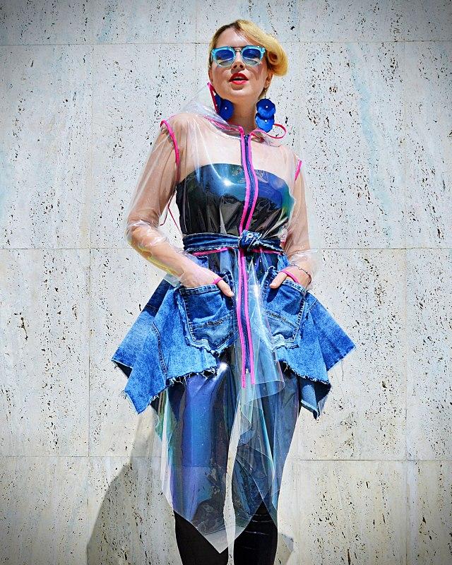 transparent vinyl trench coat