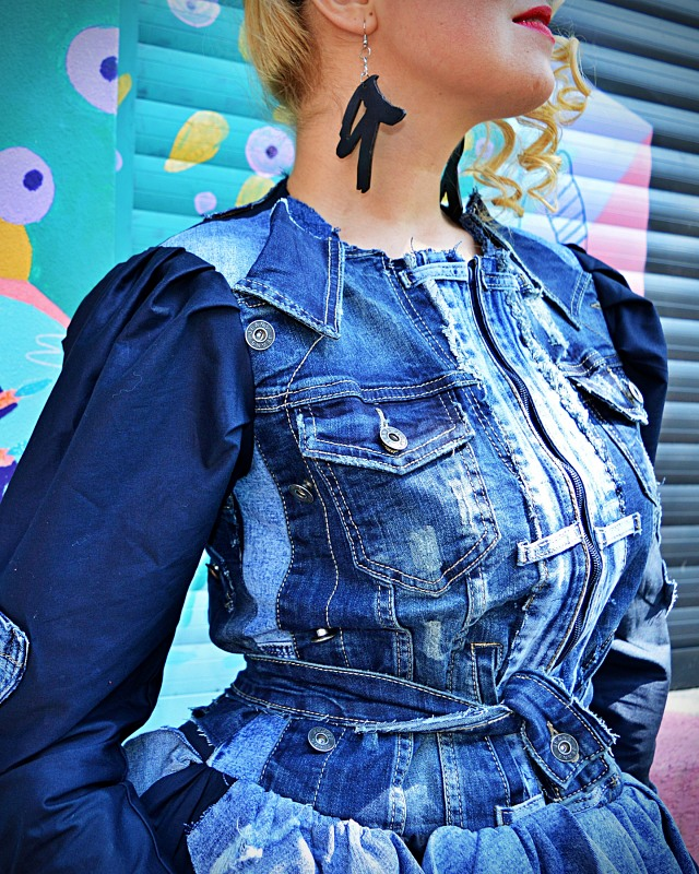 denim patchwork