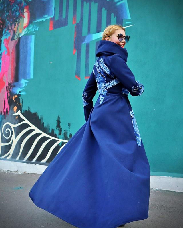 maxi wool jean coat